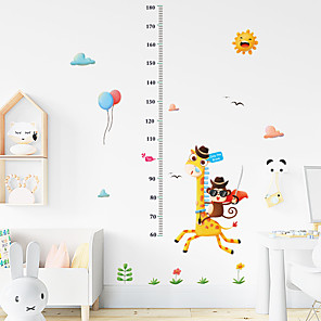 cheap Wall Stickers-Funny Giraffe Monkey Measures Your Height Stickers - Animal Wall Stickers Landscape / Animals Indoor / Kids Room / Kindergarten
