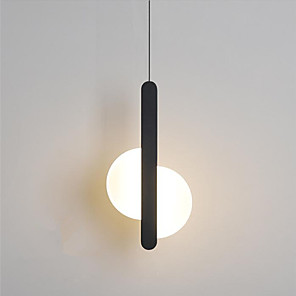 cheap Indoor Wall Lights-1-Light 5 cm Pendant Light Metal Black LED / Modern 110-120V / 220-240V