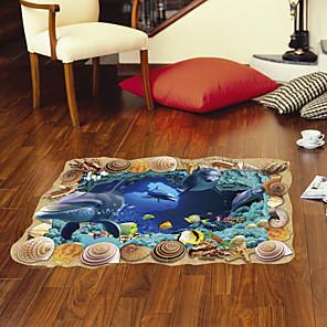 cheap Wall Stickers-Underwater World Floor Stickers - Animal Wall Stickers Landscape / Animals Indoor / Kids Room