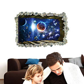 cheap Wall Stickers-SK9304 planet moon 3D personality creative bedroom background decoration removable sticker
