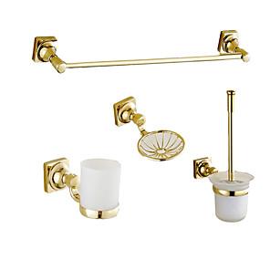 cheap Bathroom Gadgets-Bathroom Accessory Set Multifunction Modern Zinc Alloy 4pcs - Bathroom Wall Mounted