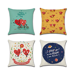 cheap Pillow Covers-1pcs Valentines Day Couple Material Pillow Cover Cushion Cover Linen