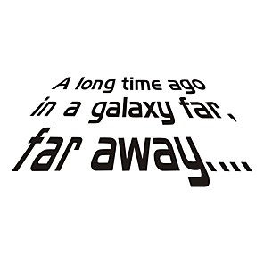 cheap Wall Stickers-Star Wars Decorative Wall Stickers - Plane Wall Stickers Characters Bedroom / Study Room / Office