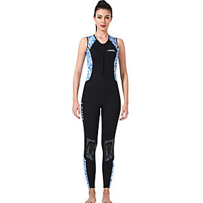 cheap Wetsuits, Diving Suits & Rash Guard Shirts-Dive&Sail Women's Sleeveless Wetsuit 1.5mm SCR Neoprene Diving Suit Thermal / Warm UV Resistant High Elasticity Sleeveless Front Zip - Diving Water Sports Solid Colored Summer