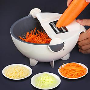 cheap Bathroom Accessory Set-Magic Multifunctional Rotate Vegetable Cutter With Drain Basket Kitchen Veggie Fruit Shredder Grater Slicer