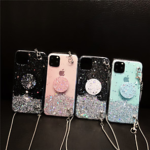 cheap iPhone Cases-Case For Apple iPhone 11 / iPhone 11 Pro / iPhone 11 Pro Max Ring Holder / Pattern / Glitter Shine Back Cover Glitter Shine TPU