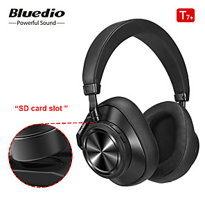 cheap On-ear & Over-ear Headphones-Bluedio T7 Plus Bluetooth Headphones User-defined Active Noise Cancelling Wireless Headset for Phones Support SD Card Slot