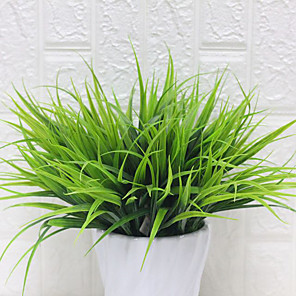 cheap Artificial Plants-Artificial Flower Water Plant 1 Branch Spring Grass Plant Wall Outdoor Decoration