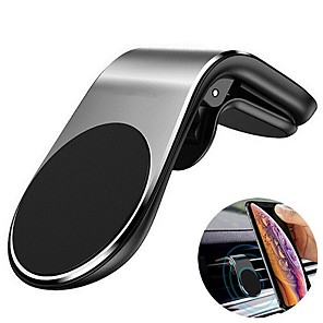 cheap Phone Mounts & Holders-Metal Magnetic Car Phone Holder Mini Air Vent Clip Mount Magnet Mobile Stand For iPhone XS Max 11Pro Xiaomi SAMSUNG Galaxy Note10 Smartphones