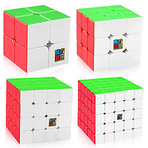 cheap Magic Cubes-Speed Cube Set 4 PCS Magic Cube IQ Cube MoYu Sudoku Cube Sudoku Cube 2*2*2 3*3*3 4*4*4 5*5*5 Magic Cube Puzzle Cube Glossy Stress and Anxiety Relief Classic Kids Adults' Toy All Gift