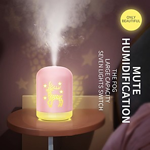 cheap Humidifiers-Air Humidifier 340ML Ultrasonic Aromatherapy USB Cool Mist Maker Humidifier Cute Aroma Essential Oil Diffuser