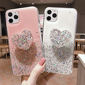 cheap iPhone Cases-Case For Apple iPhone 11 / iPhone 11 Pro / iPhone 11 Pro Max with Stand / Glitter Shine Back Cover Glitter Shine TPU
