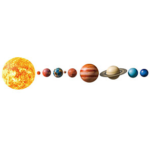 cheap Wall Stickers-Planets in The Solar System Decorative Wall Stickers - Landscape Wall Stickers Abstract / Landscape Nursery / Kids Room / Indoor