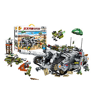 cheap Building Blocks-Building Blocks 1336 pcs Military compatible ABS+PC Legoing Simulation Tank All Toy Gift / Kid's
