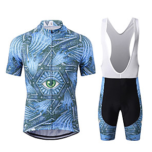 cheap Cycling Jersey & Shorts / Pants Sets-WECYCLE Men's Short Sleeve Cycling Jersey with Bib Shorts Winter Bule / Black Bike Clothing Suit Breathable 3D Pad Quick Dry Warm Reflective Strips Sports Graphic Mountain Bike MTB Road Bike Cycling