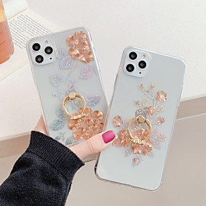 cheap iPhone Cases-Case for Apple scene map iPhone 11 11 Pro 11 Pro Max X XS XR XS Max 8 Golden rose pattern inner and outer plating ring bracket TPU material IMD process all-inclusive mobile phone case
