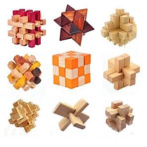 cheap Building Blocks-Building Blocks Wooden Puzzles IQ Brain Teaser Kong Ming Lock Toys IQ Test Wood Unisex Pieces