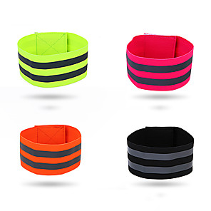cheap Running Bags-Reflective Wristband Reflective Strip Textile Polyester for Running Cycling / Bike Jogging