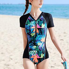 cheap Athletic Swimwear-Women's One Piece Swimsuit Padded Bodysuit Swimwear Fuchsia Breathable Comfortable Swimming Summer
