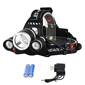 povoljno Baterijske svjetiljke-Svjetiljke za glavu Svjetlo za bicikle Može se puniti 3000 lm LED 3 emiteri 4.0 rasvjeta mode s baterijama i punjačem Može se puniti štrajk oštrica Kampiranje / planinarenje / Speleologija Putovanje