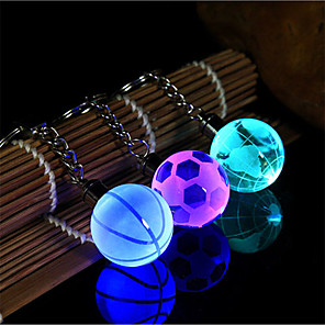 cheap Keychains-Keychain Fashion Football Ordinary Fashion Crystal Ring Jewelry Purple / Green / Blue For Gift Daily