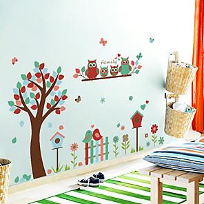 cheap Wall Stickers-SK9162 owl flower tree bird cute children's room kindergarten living room decoration stickers
