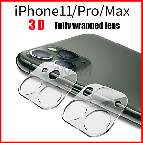 cheap TWS True Wireless Headphones-1Pcs Fully Transparent Film For iPhone 11 3D Full Cover Back Camera Lens Screen Protector for iPhone 11 Pro Max Tempered Glass Case