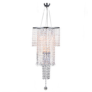 cheap Ceiling Lights-7-Light 35 cm Crystal Pendant Light Metal Crystal Electroplated Chic & Modern / Traditional / Classic 110-120V / 220-240V