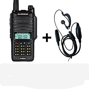 cheap Walkie Talkies-Baofeng UV-9R plus 10W 4800mAh 10KM waterproof walkie talkie high power two way intercom VHF UHF portable walkie talkie uv9R plus  headphones