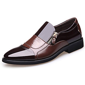 cheap Men's Slip-ons & Loafers-Men's Formal Shoes Faux Leather Spring & Summer / Fall & Winter Business / Casual Loafers & Slip-Ons Breathable Black / Brown