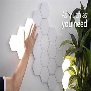 cheap Outdoor IP Network Cameras-7 sets of modular touch sensitive lighting hexagonal lamp creative magnetic night lamp wall decoration lampara