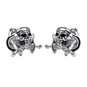 cheap Men's Necklaces-Men's Earrings Classic Mini Earrings Jewelry Silver For Christmas Party Anniversary Carnival Festival 1pc