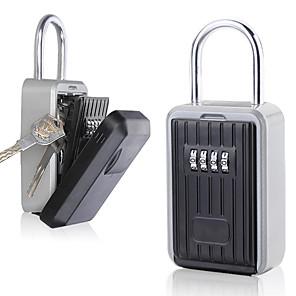 cheap Dial Locks-Wall Hanging Outdoor Key Storage Lock Box 4-Digit Combination Password Key Safe Box Resettable Code Key Holder Hider
