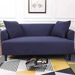 cheap Sofa Cover-Pure Color Dustproof All-powerful Slipcovers Stretch Sofa Cover Super Soft Fabric Couch Cover with One Free Pillow Case