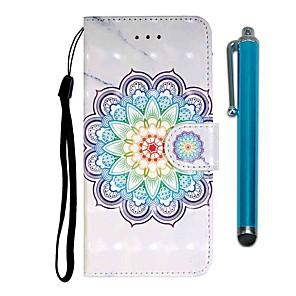cheap Samsung Case-Case For Xiaomi Xiaomi Redmi 7 / Xiaomi Mi 9T / Xiaomi Mi 9T Pro Wallet / Card Holder / with Stand Full Body Cases Flower PU Leather / TPU