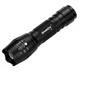 preiswerte Taschenlampen-skywolfeye t6 im Freien führte teleskopische Fokussierungstaschenlampe starke helle Taschenlampe der Aluminiumlegierung