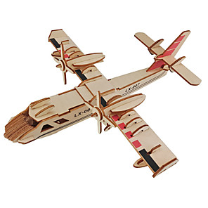 cheap Wooden Puzzles-Muwanzi 3D Puzzle Jigsaw Puzzle Wooden Model Plane / Aircraft Fighter Aircraft Famous buildings DIY Wooden Classic Kid's Adults' Unisex Boys' Girls' Toy Gift