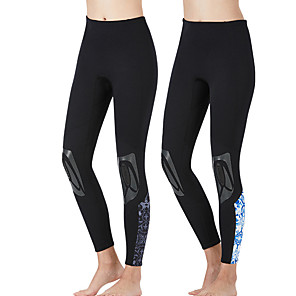 cheap Wetsuits, Diving Suits & Rash Guard Shirts-Women's Wetsuit Pants 3mm SCR Neoprene Bottoms Thermal / Warm Ultraviolet Resistant Surfing Snorkeling Stripes Autumn / Fall Winter / Stretchy