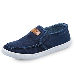 cheap Men's Slip-ons & Loafers-Men's Comfort Shoes Canvas Fall & Winter Loafers & Slip-Ons Black / Blue / Dark Blue