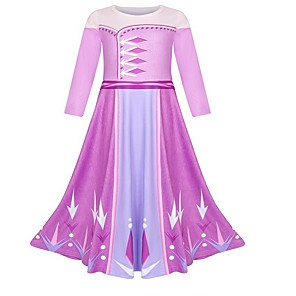 cheap Movie & TV Theme Costumes-Kids Girls' Geometric Dress Fuchsia