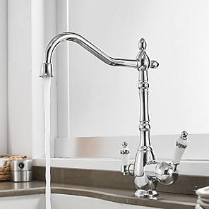 cheap Kitchen Faucets-Kitchen faucet - Single Handle One Hole Electroplated Standard Spout Centerset Contemporary Kitchen Taps