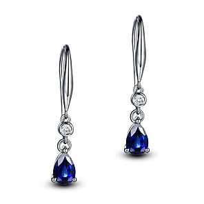 cheap Earrings-Women's Aquamarine Earrings Classic Music Notes Stylish Artistic Luxury Trendy Korean Platinum Plated Gold Plated Earrings Jewelry Light Yellow / Purple / Royal Blue For Christmas Gift Daily Work