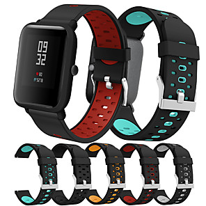 cheap Smartwatch Bands-Smartwatch Band for Amazfit Bip Younth / Bip Lite / GTS /  GTR 42mm  /Amazfit Bip Huami sport Band Fashion Soft comfortable Silicone Wrist Strap 20mm
