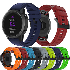 cheap Smartwatch Bands-Smartwatch Band for Garmin Fenix 6S / 6s pro / Fenix5s / 5S Plus Sport Band Soft Comfortable Silicone QuickFit Wrist Strap 20mm