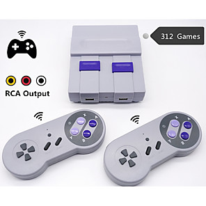 cheap Video Game Accessories-WIRELESS RETRO MINI TV VIDEO GAME CONSOLE RETRO GAME CONSOLE FOR NES 8 BIT GAMES WITH 312 BUILT-IN GAMES DOUBLE GAMEPADS
