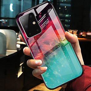 cheap Samsung Case-Colorful Tempered Glass Phone Case for Samsung Galaxy S20 S20 Plus S20 Ultra S10 S10E S10 Plus S9 S9 Plus Note 10 Note 10 Plus A10 A20 A30 A40 A50 A70 A20E