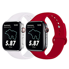 cheap Smartwatch Bands-Watch Band for Apple Watch Series 4 / Apple Watch Series 3 / Apple Watch Series 2 Apple Sport Band Silicone Wrist Strap