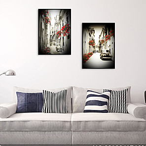 cheap Framed Arts-Framed Art Print Framed Set - Landscape Scenic PS Oil Painting Wall Art