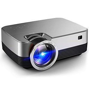 cheap Projectors-L480 Mini Portable Led Projector 3800lumen Touch Panel Multimedia Video Projecyor Support 1080p Hdmi Vga Usb Home Theater Compatible with TV Stick PS4 HDMI VGA TF AV and USB Q6 L6