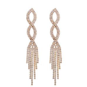 cheap Earrings-Women's Stud Earrings Drop Earrings Geometrical Number Stylish Bohemian Boho Earrings Jewelry Gold / Silver For Wedding Party Holiday 1 Pair